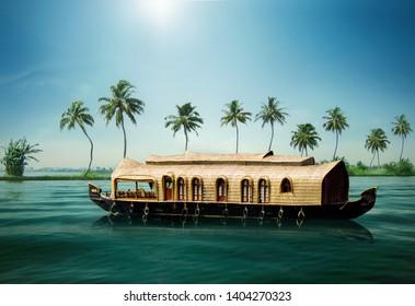 KERALA BOAT HOUSE INDIA TOURISM Kerala's Backwaters India