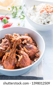 Kerala Chicken Curry with rice