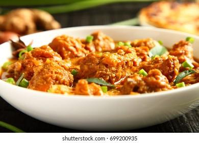 Kerala cuisine- homemade spicy chicken korma dish.
