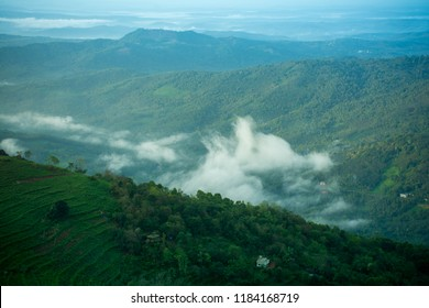 Kerala Gods own country Natural Beauty, Top View of Palakkayam Thattu, mountain with fog