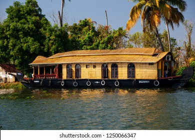 Kerala, India - December 15 : Traditional Indian houseboat near Alleppey on Kerala backwaters on December 15, 2013.r, summit, sun, sunshine, travel, trek, two, ukraine, wallpaper, woman, wooden