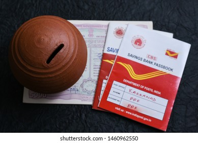 KERALA, INDIA - MAY 24, 2018 :  Indian Post office savings bank pass book of Public Provident Fund (PPF) scheme a popular long term investment option backed by Government of India. Savings deposit