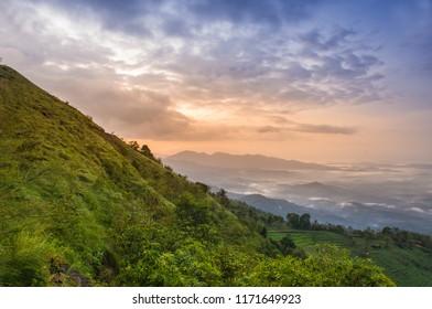 Kerala Natural Beauty, Top View of Palakkayam Thattu, Kannur, Kerala, beautiful scenery of sunrise