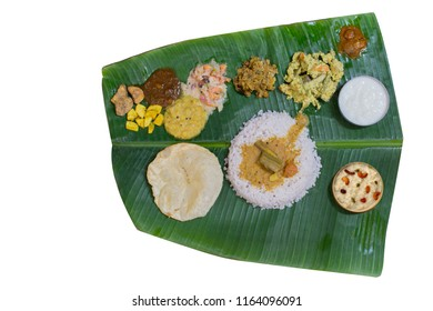 KERALA ONAM SADYA ISOLATED IMAGE