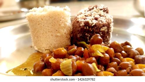 kerala steamed puttu breakfast with curry
