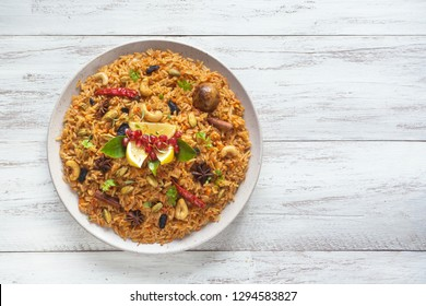 Kerala Vegetable Biriyani. Indian cuisine.