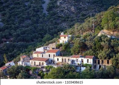 Keramoti village on the west coast of Crete island, Greece