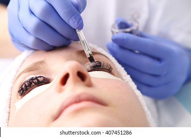 Keratin lash lift procedure
