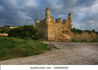 Kerch Ancient fortress of Yeni-Kale on the Crimea coast in the early morning
