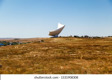 KERCH, RUSSIA - June 30, 2019: Parus Monument dedicated to paratroopers, Kerch