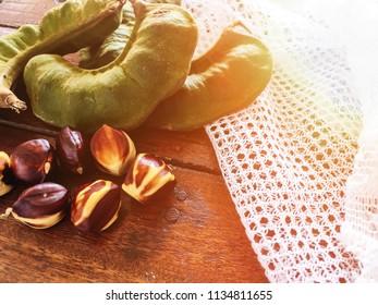 Kerdas or genuak is a local fruit food in Malaysia