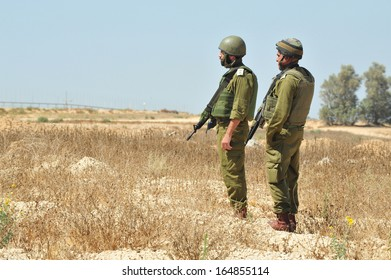 KEREM SHALOM, ISR - JULY 05:Israeli soldiers near Gaza strip on July 05 2010.IDF is one of Israeli society's most prominent institutions, influencing the country's economy, culture and political scene