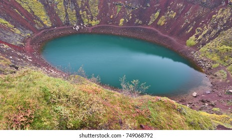 Kerid is a volcanic crater lake in Grímsnes in south Iceland