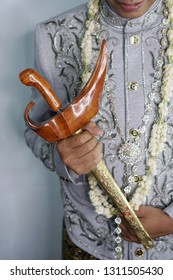 Keris is One Of Complementary Javanese Wedding Attire - Traditional Javanese Weapon, Indonesia