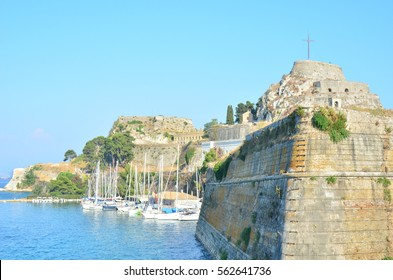 Kerkira, Corfu, Greece - August, 2012: Kerkira fortress