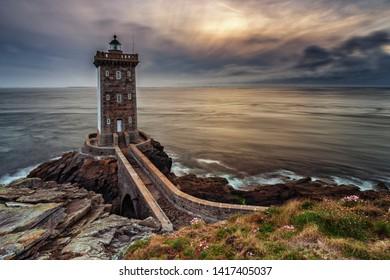 Kermorvan Light house at sunset