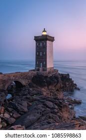 Kermorvan lighthouse, Le Conquet, most western part of France, Bretagne, France