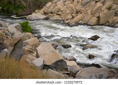 The Kern River, a tourist and recreational attraction, turns wild and treacherous at this point, a danger to swimmers and boaters alike.