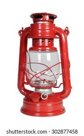 kerosene lamp on a white background