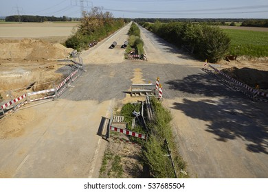 KERPEN, GERMANY - SEPTEMBER, 10. The formerly Autobahn A4 near Kerpen-Buir (Northrhine Westphalia, Germany) is demolished because of the near soft coal opencast mining Hambach on September 10, 2016.