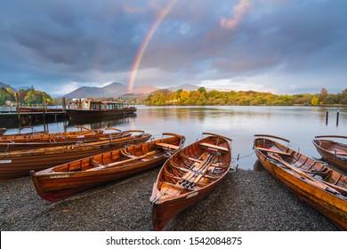 Keswick Rainbow, Lake District, UK - Shutterstock ID 1542084875