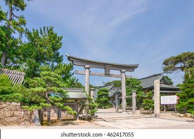 Keta Taisha Shrine in Hakui, Ishikawa Prefecture, Japan
