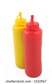 Ketchup and mustard for fast food
