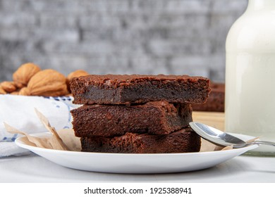 Keto brownies made with almond flour, cocoa and avocado. Several pieces.