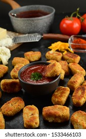 Keto Cauliflower Tater Tots with Sugar-Free Ketchup - an entire recipe preparation with instructions and photos of the final dish