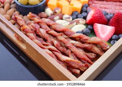 Keto Platter Board Bacon Twists