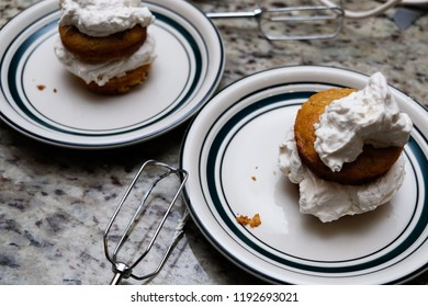 ketogenic almond flour cupcakes with whipping cream