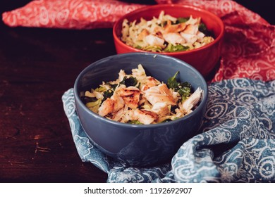 ketogenic healthy chicken salad with fresh cabbage