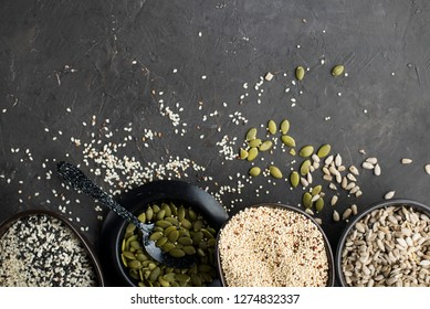 Chia Seeds Drink Water Transparent Glass Stock Photo Edit Now