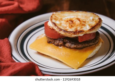 ketogenic sausage and egg breakfast sandwich