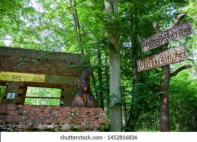 Ketrzyn/Poland June 23, 2019 Wolf's Lair was Adolf Hitler's first Eastern Front military headquarters in World War II.