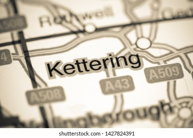 Kettering. United Kingdom on a map
