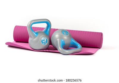 kettlebell on mattress