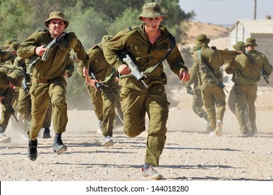 KETZIOT - NOV 24:IDF recruitment on Nov 24 2010.The number of wars and conflicts in which the IDF was involved in its short history makes it one of the most battle-trained armed forces in the world.