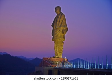 Kevadia,Gujarat,India 12/13/2018 The worlds tallest Statue height 182 meter opened recently. The Statue of Unity is a colossal statue of Indian ironman & independence activist Sardar Vallabhbhai Patel