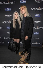 """Kevin James Maher with Gretchen attends 19th Annual Horror Film Festival - Screamfest - """"Rabid"""" Los Angeles Premiere - Arrivals at TCL Chinese Theatre, Hollywood, CA on October 16, 2019"""