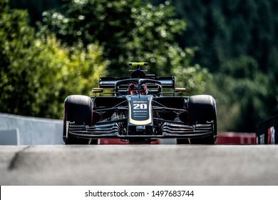 Kevin Magnussen (Denmark) in the Rich Energy Haas F1 Team VF-19 2019 F1 car during the 2019 Formula 1 Johnnie Walker Belgian Grand Prix (29/08/2019 - 01/01/2019) at Circuit de Spa-Francorchamps
