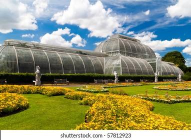 Kew gardens greenhouse in London