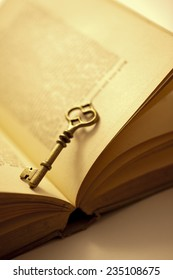 Key and an antique book
