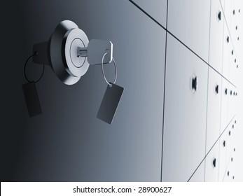 Key in bank deposit - The best security.