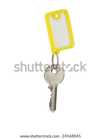 key with blank tag isolated on white
