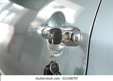 key at car handle