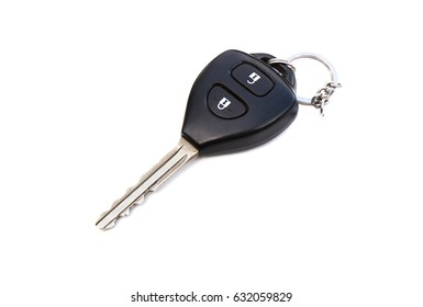 Key car remote control isolated on a white background