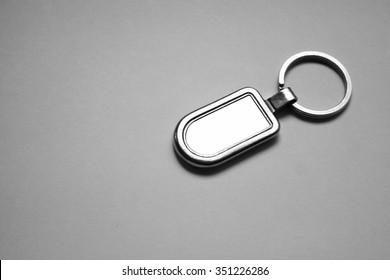 key chain metal mockup
