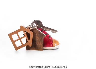 Key chain on a white background