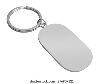 Key Chain with space for text, isolated on white background